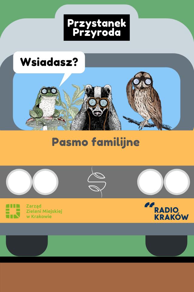 Grafika przedstawiająca Przystanek Przyroda - pasmo familijne w Radio Kraków