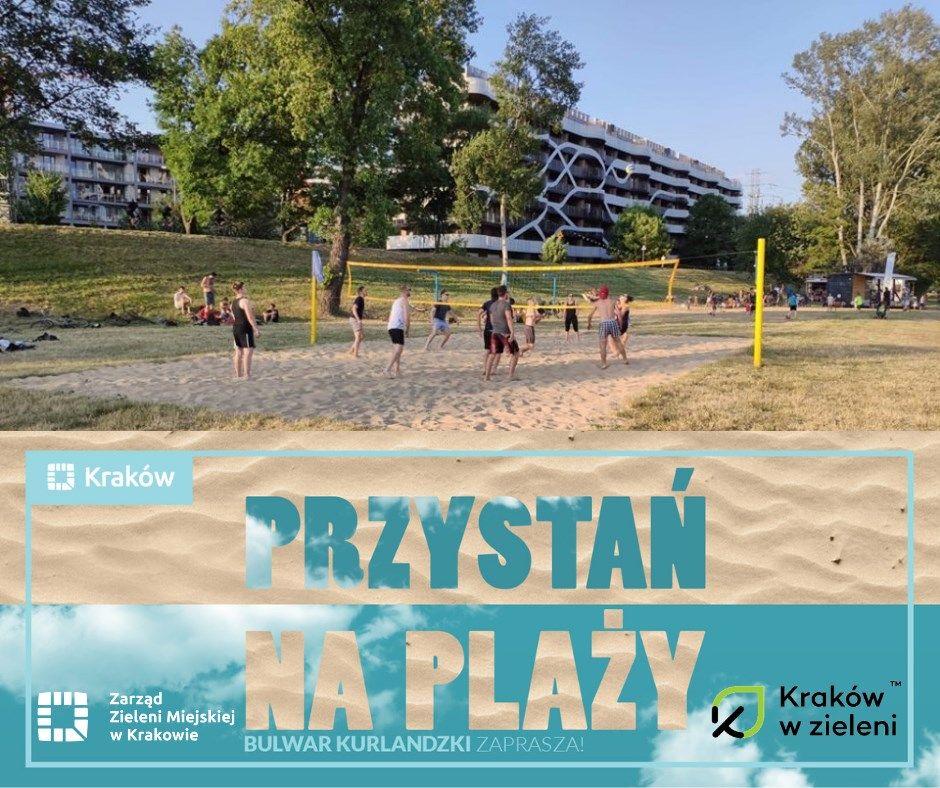 Zdjęcie przedstawiające Przystań na plaży Zarządu Zieleni Miejskiej w Krakowie